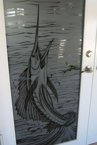 Etched Glass Art For Home Business Boat