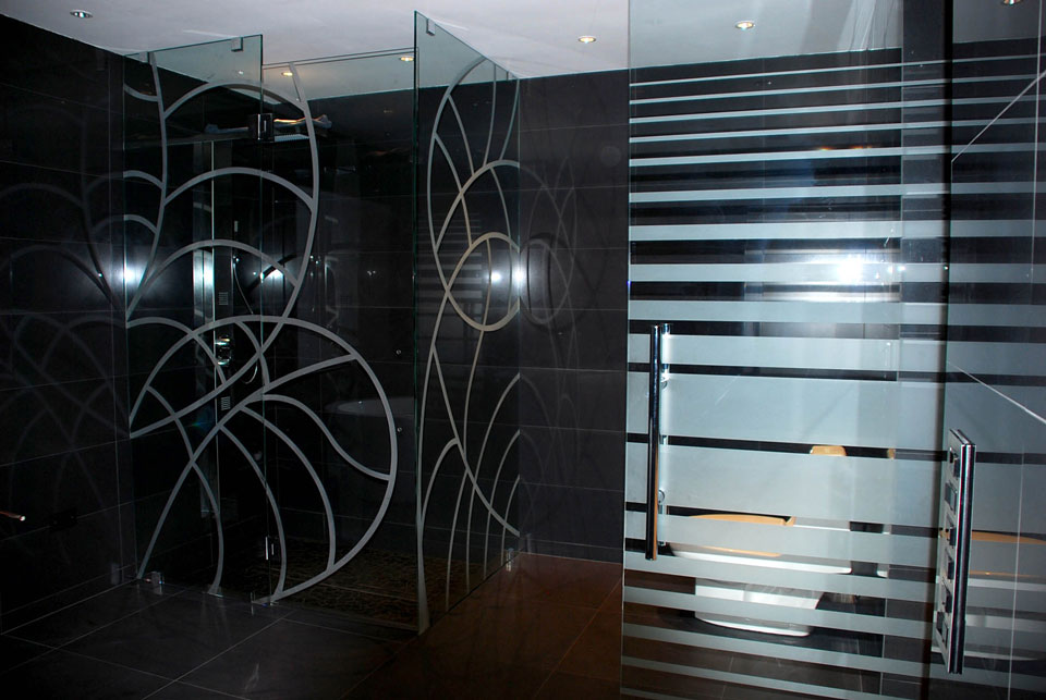Etched Glass Door Contemporary